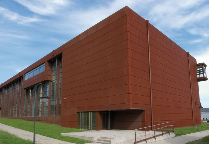 On dise o productos fachada en acero corten de cometal - Acero corten fachadas ...