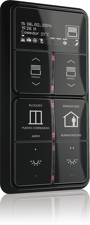 on dise o productos knx oled de jung electro ib rica. Black Bedroom Furniture Sets. Home Design Ideas