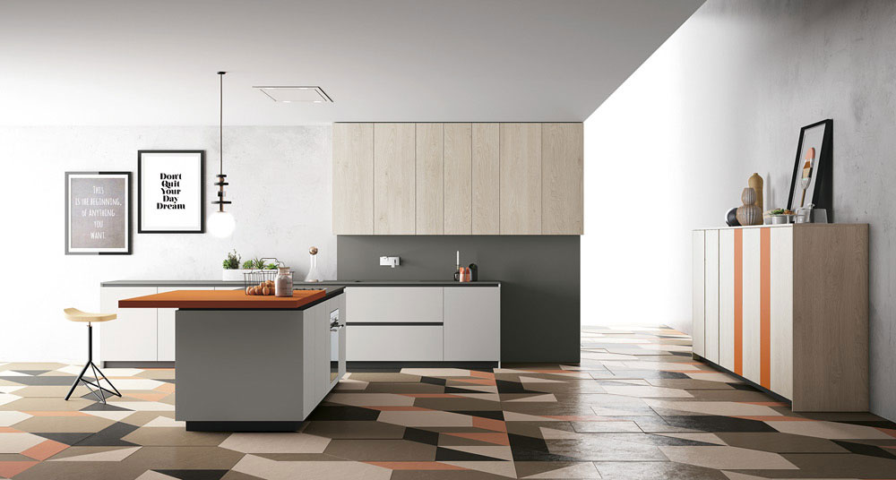 On diseño products: materia by doimo cucine