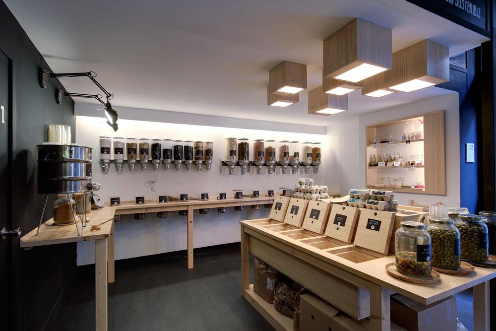 On dise o proyectos tienda de alimentaci n granel en - Diseno interiores barcelona ...
