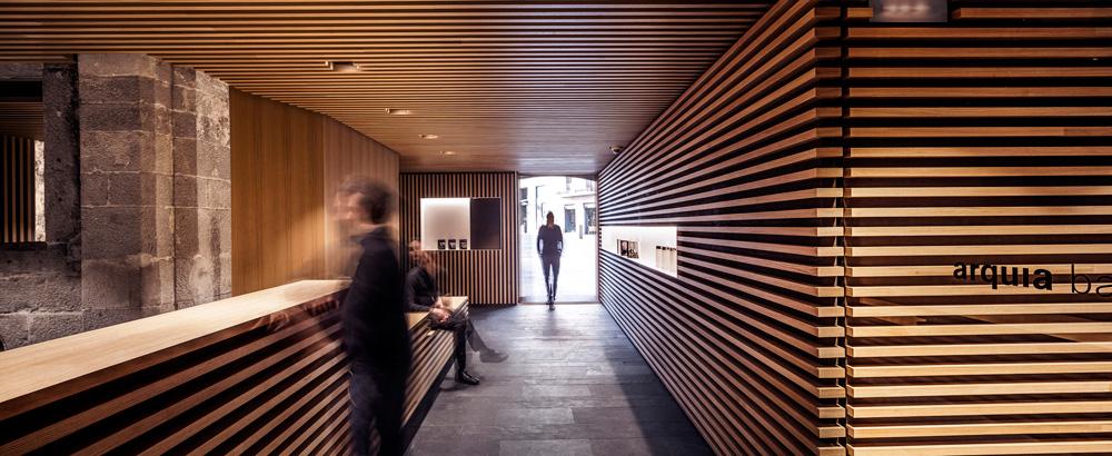 On dise o proyectos nueva oficina de arquia banca en girona for Oficina de extranjeria girona